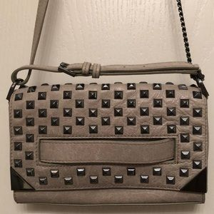 Botkier Coco Rocha Grey Studded Crossbody Clutch